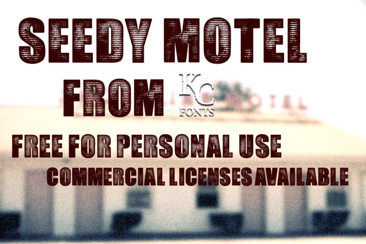 Seedy Motel Font