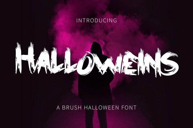 Halloweins - Brush Font