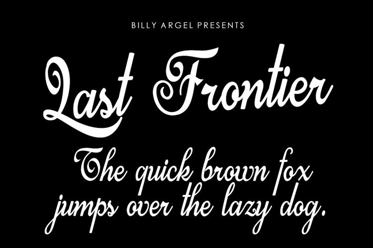 Last Frontier Font
