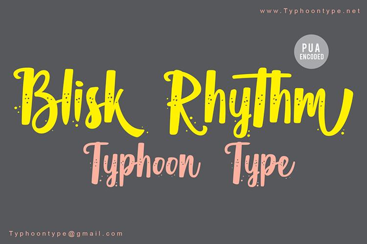 Blisk Rhythm Font
