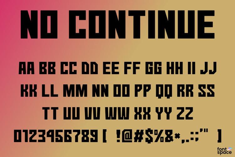 No Continue Font