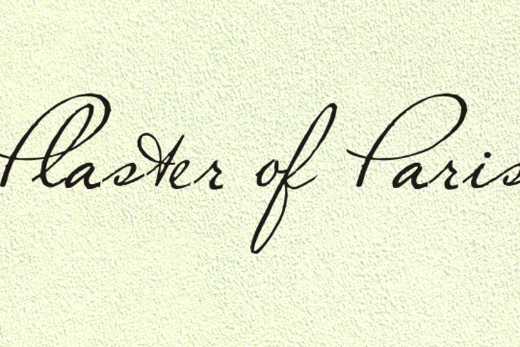 Plaster of Paris Font