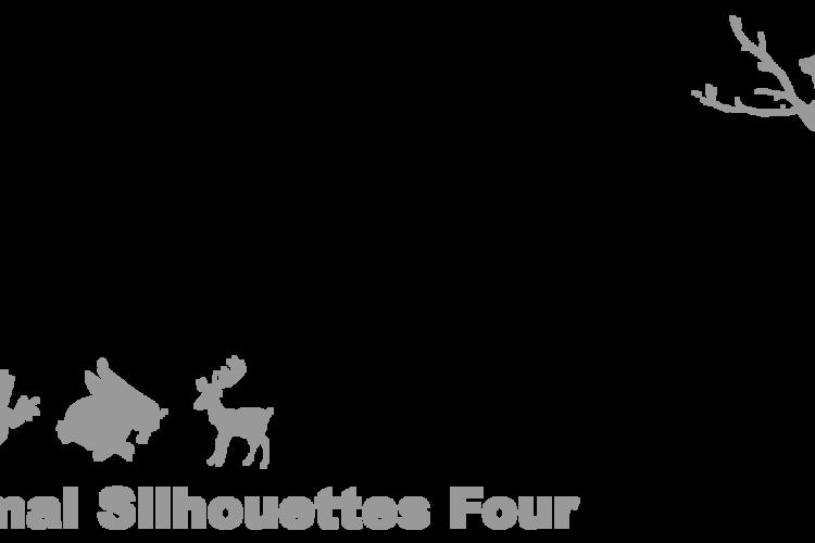 Animal Silhouettes Four Font