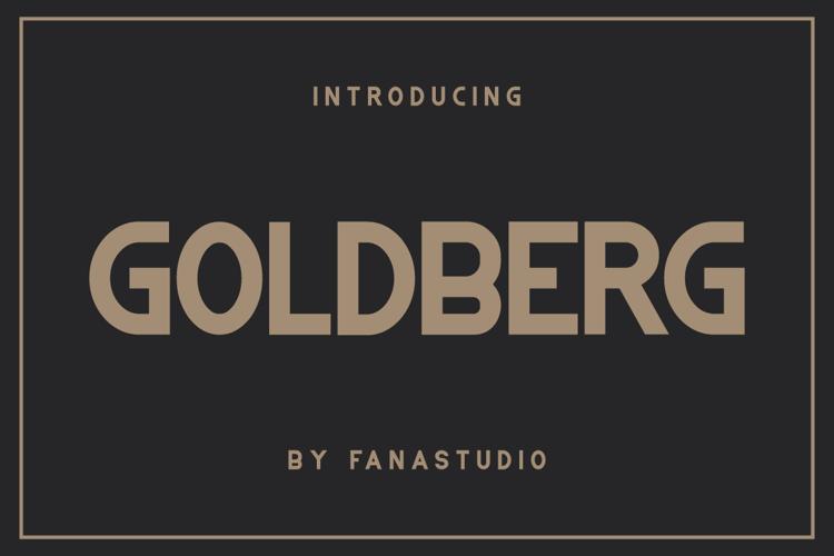GOLDBERG Font