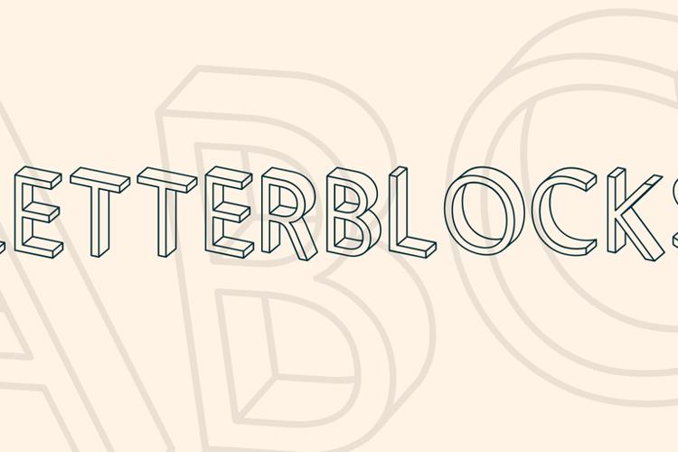 Letterblocks Font