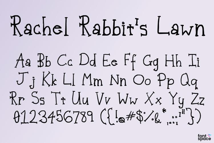Rachel Rabbit's Lawn Font