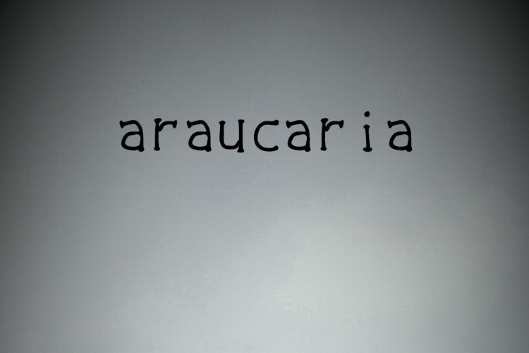 the luxurious dark Font