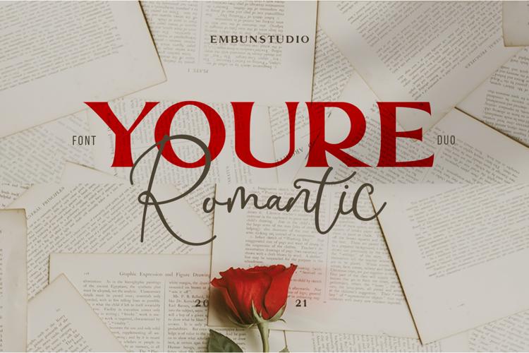 Youre Romantic Serif Font