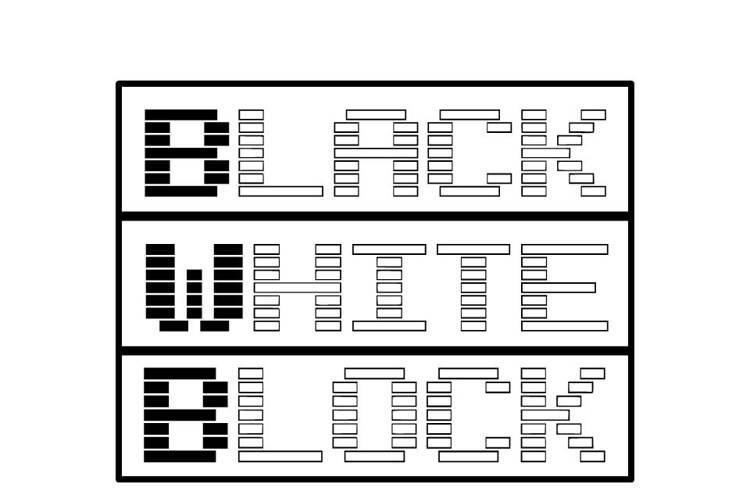 Black White Block Font
