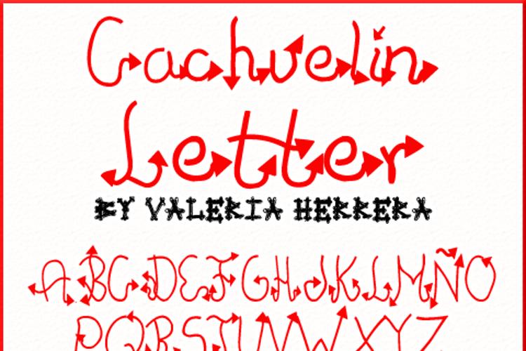 Cachuelin Letter Font