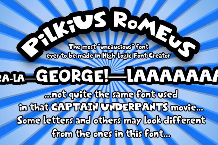 Pilkius Romeus Font