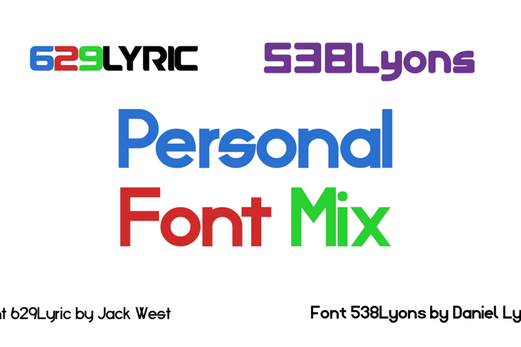 Personal Font Mix
