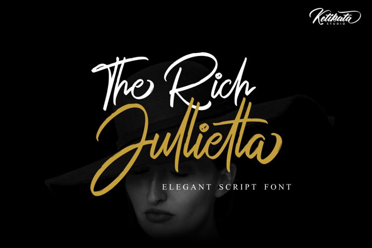 The Rich Jullietta Font