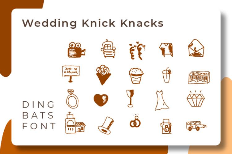 wedding knick knacks Font