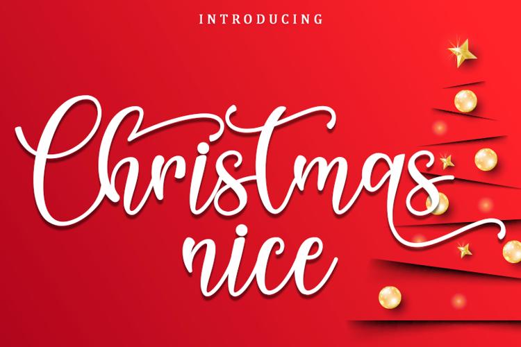 Christmas Nice Font