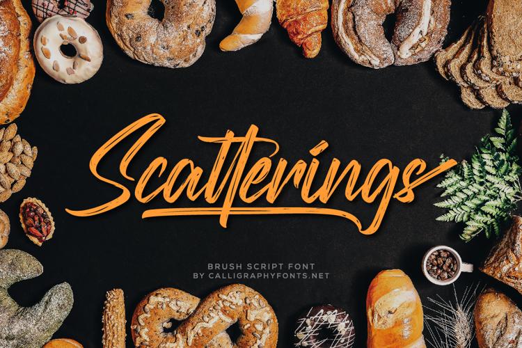 Scatterings Font