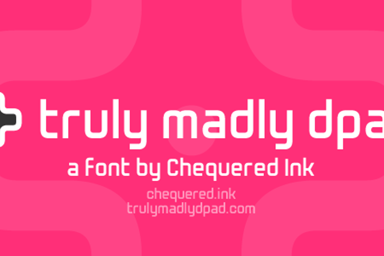 Truly Madly Dpad Font