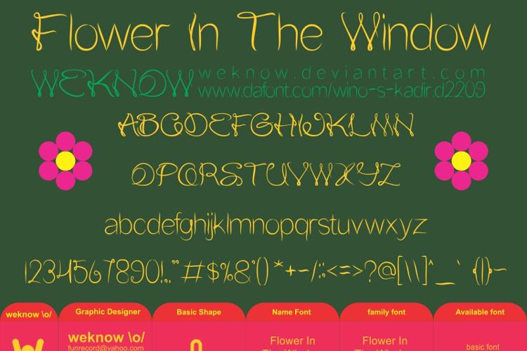 Flower In The Window Font
