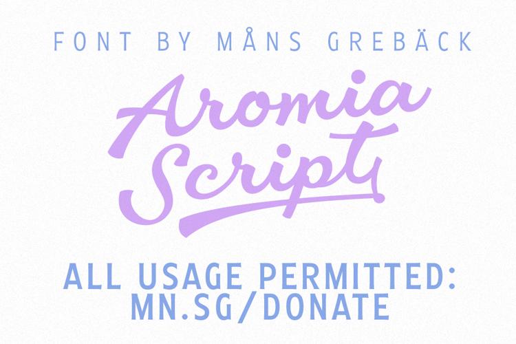 Aromia Script Font