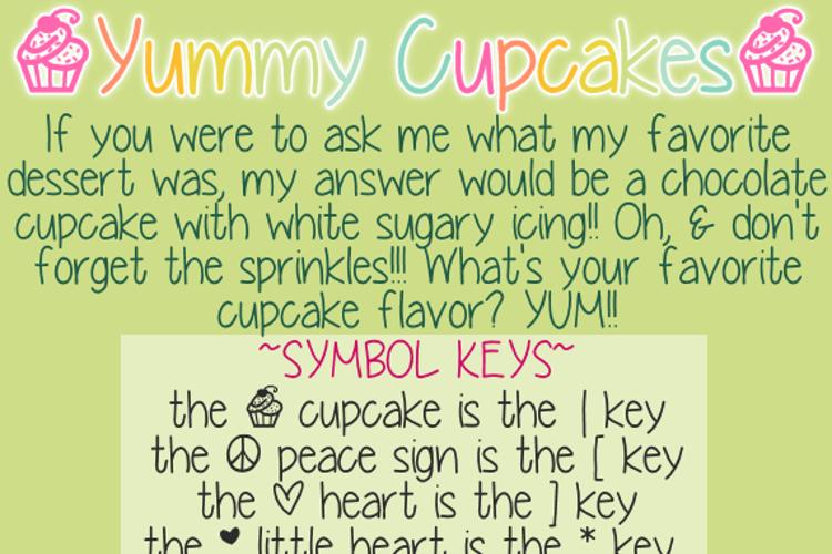 YummyCupcakes Font