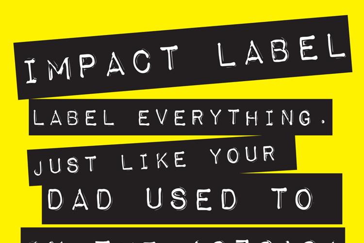 Impact Label Font