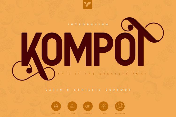 Kompot Sans Font