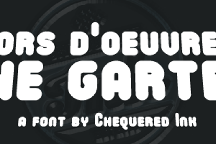 Hors D'oeuvres The Garter Font