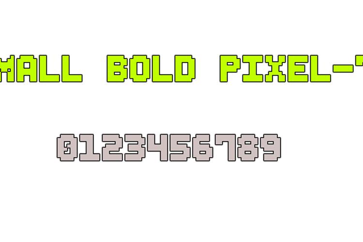 Small Bold Pixel-7 Font