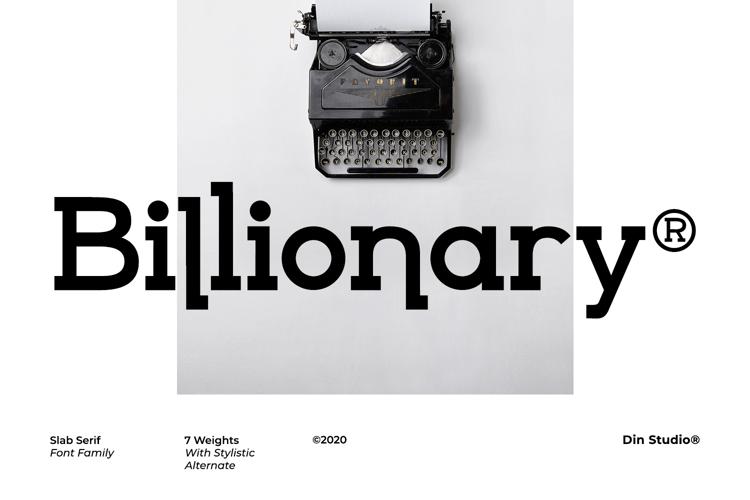 Billionary Font