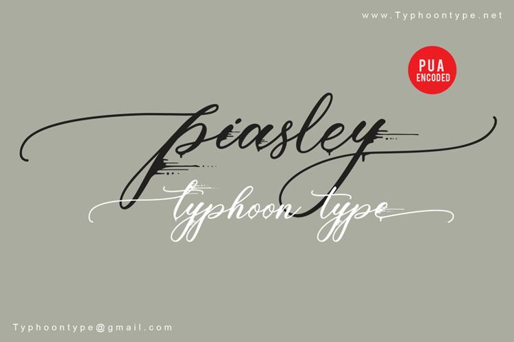Piasley - Font