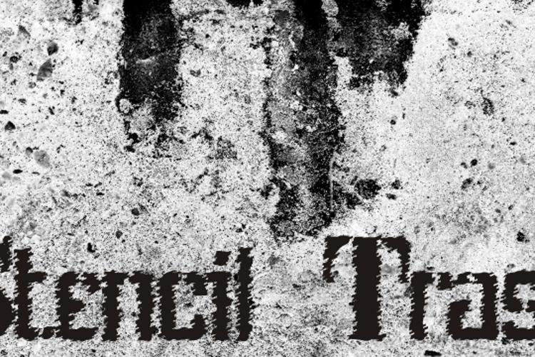 Stenci lIntellecta Trash Free Font