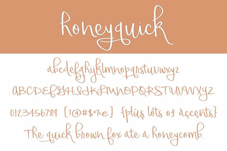 honeyquick Font