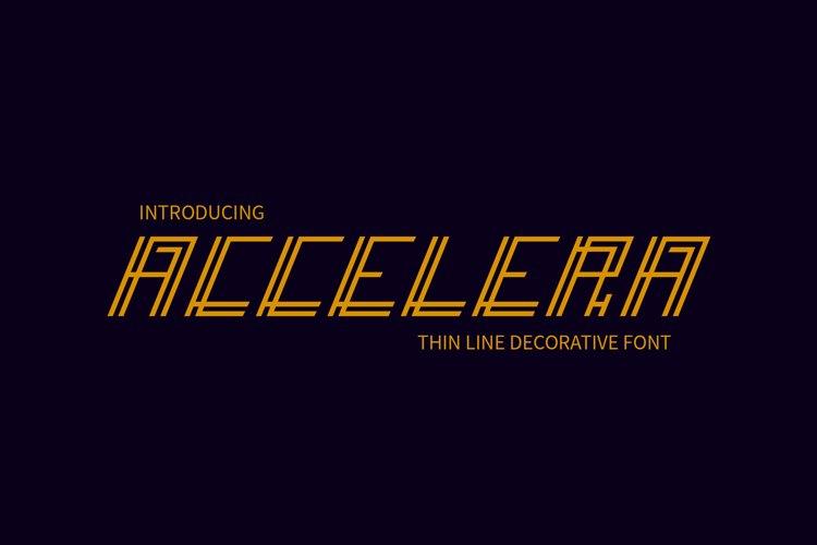 Accelera Font