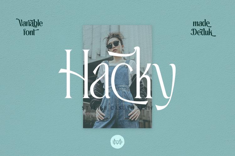 Hacky Light Font