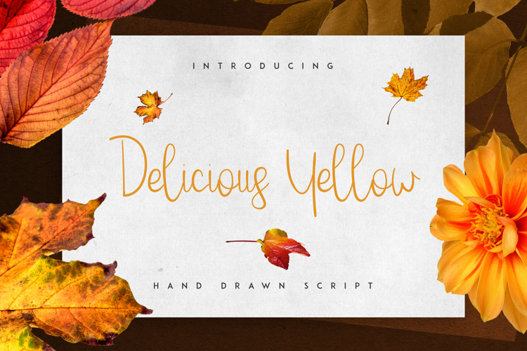Delicious Yellow Font