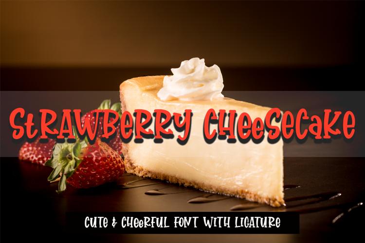 strawberry cheesecake Font