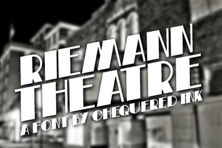 Riemann Theatre Font
