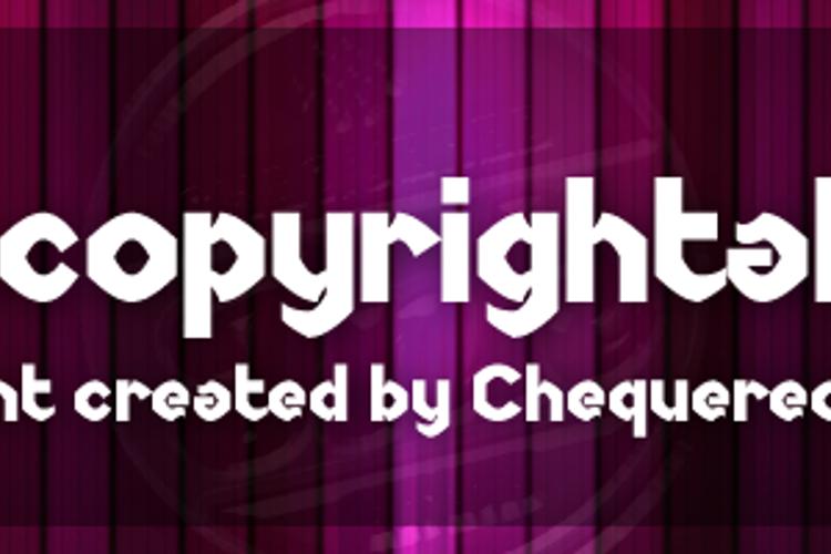 Uncopyrightable Font