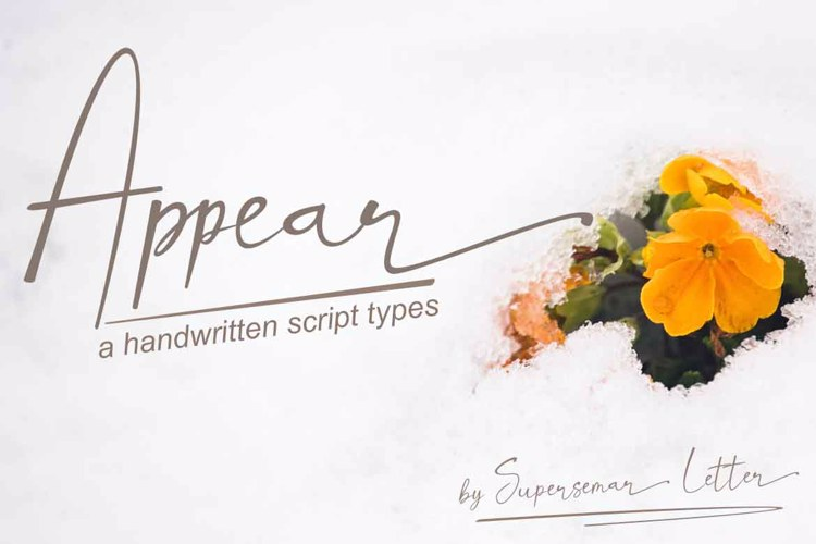 Appear Font