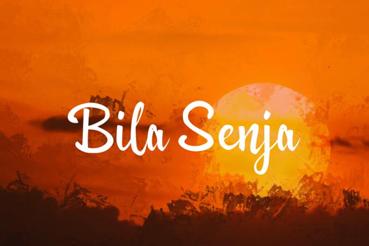 b Bila Senja Font