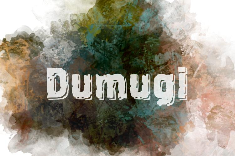 d Dumugi Font