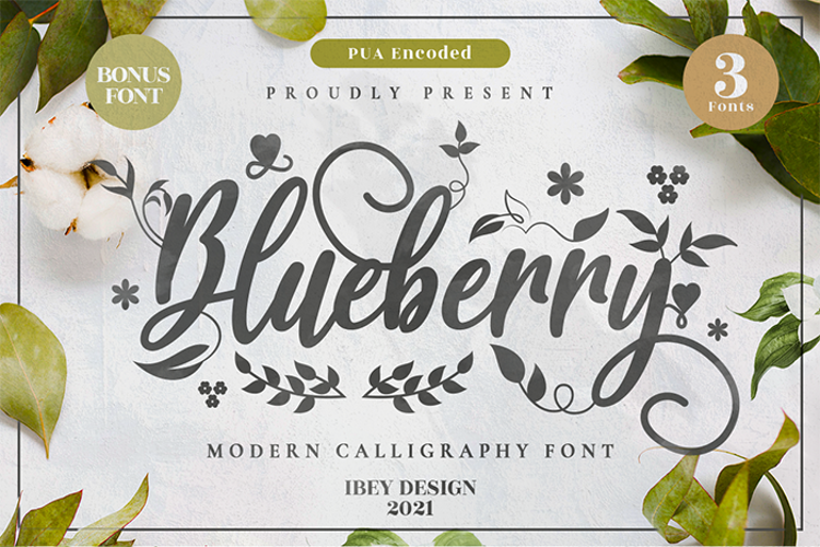 Blueberry Love Font