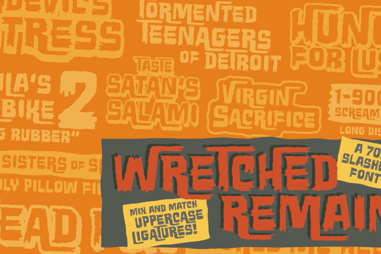 Wretched Remains BB Font
