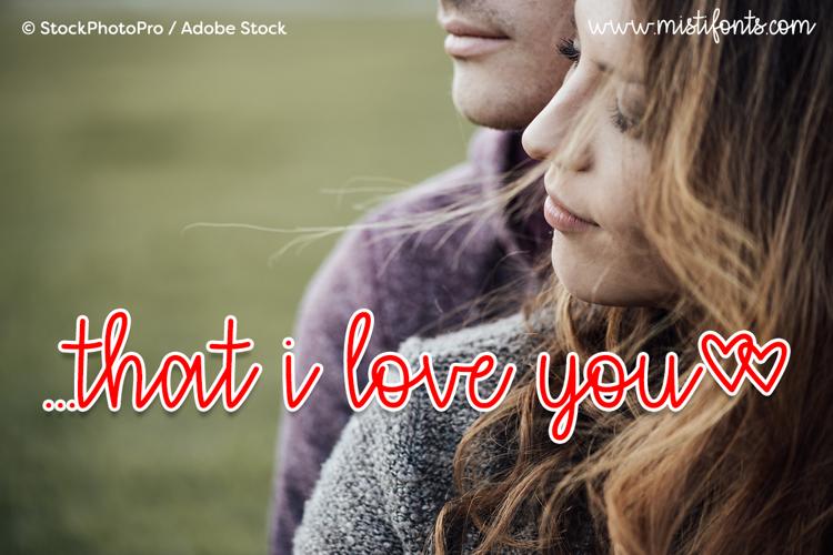 that i love you Font