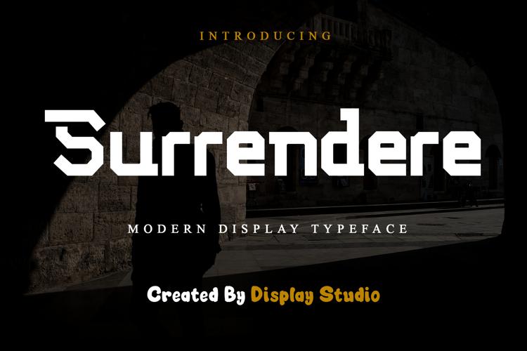 Surrendere Font