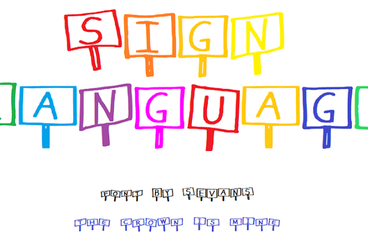 Sign Language Font