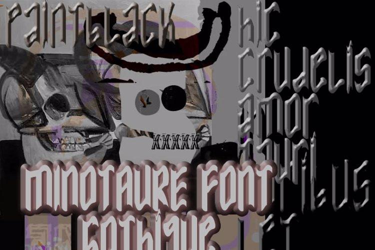 MINOTAURE Gothique Font
