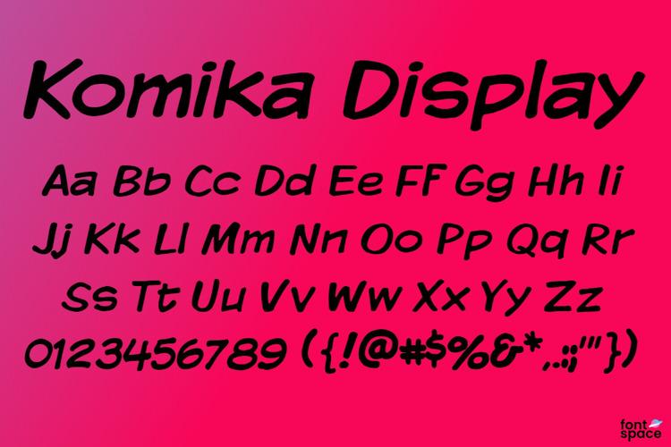 Komika Display Font