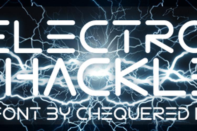 Electro Shackle Font