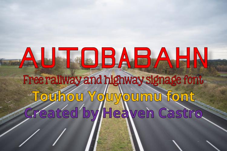 Autobabahn Font